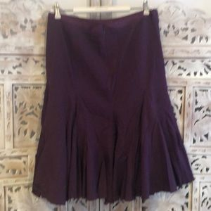 Anthropologie Knee length Skirt In Aubergine Sz. 8